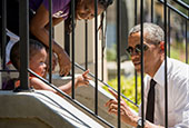 美国卡特里娜飓风10周年 奥巴马前往新奥尔良慰问居民