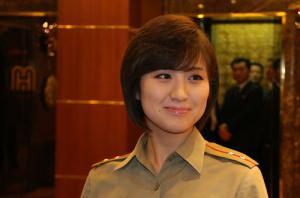 朝鲜牡丹峰乐团抵京后进行自助会餐