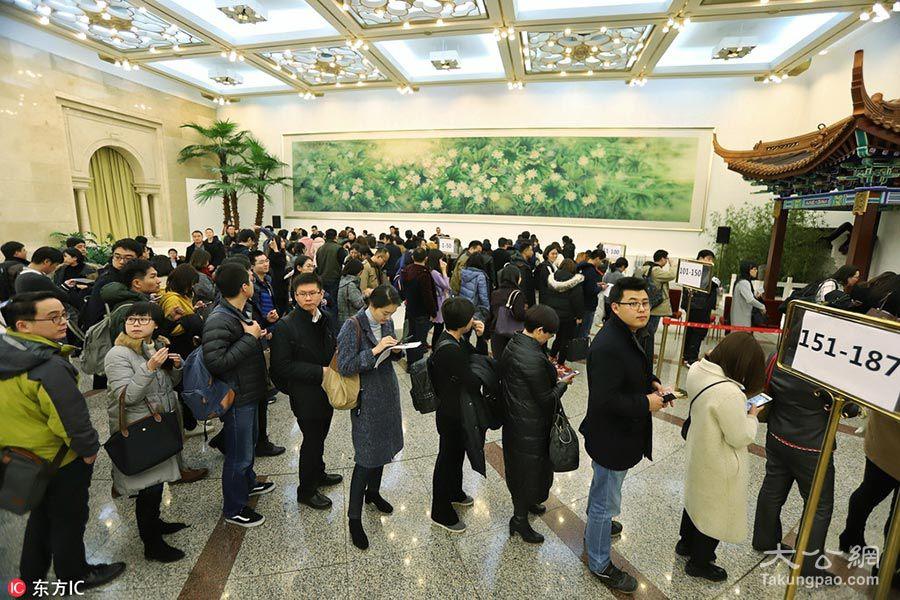 1/4 2018年3月1日,北京,2018年全国两会即将召开,在人民大会堂,记者